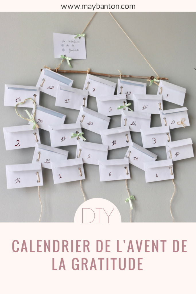 diy calendrier de l 39 avent de la gratitude may banton. Black Bedroom Furniture Sets. Home Design Ideas