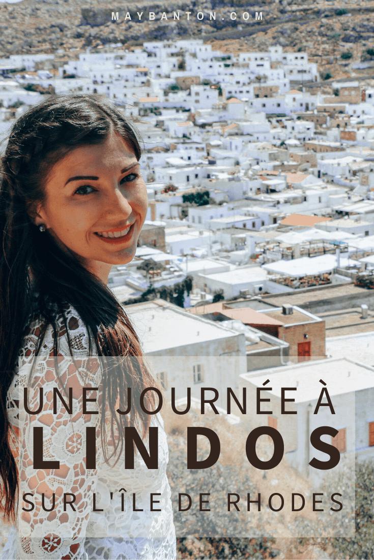 Dans cet article sous forme de carnet de voyage, je te raconte notre belle journée dans le village blanc de Lindos en Grèce.