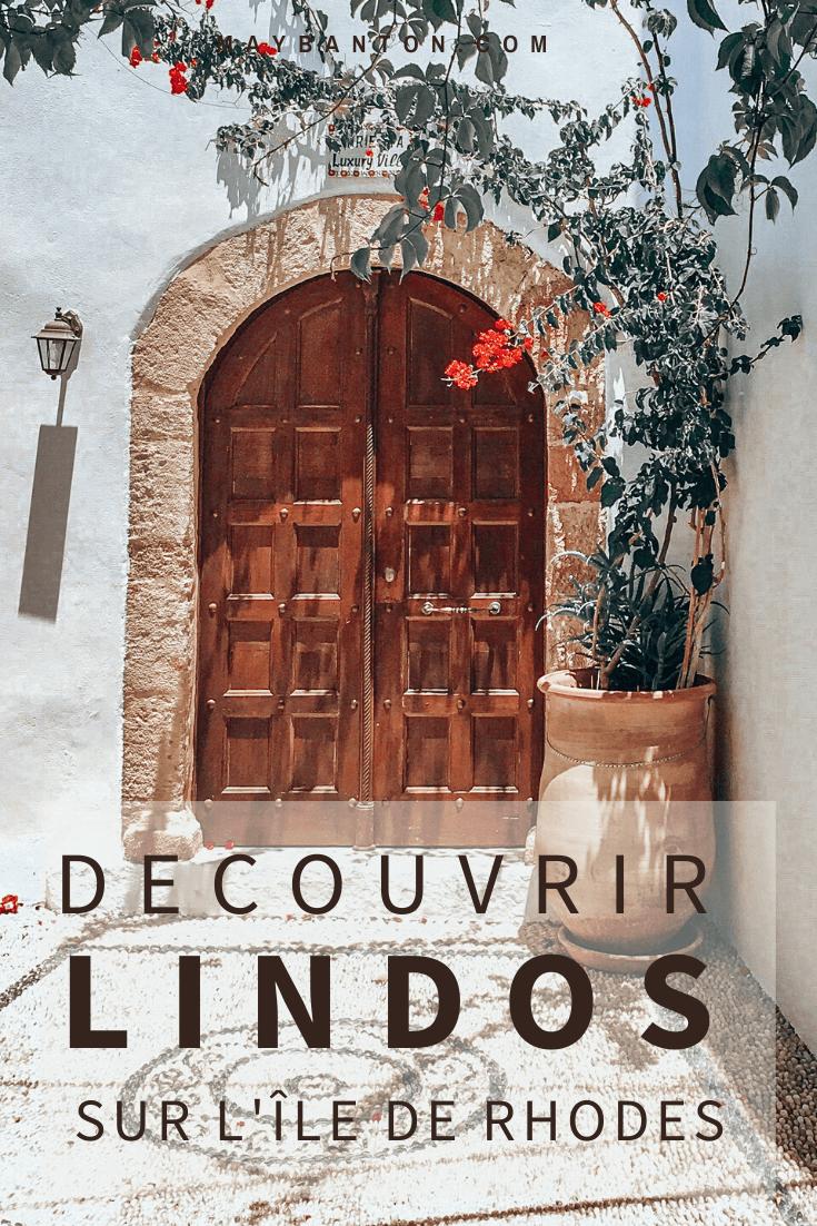 Décollage imminent pour la Grèce ! Je t'emmène sur l'île de Rhodes à la découverte du village de Lindos et de son acropole antique.