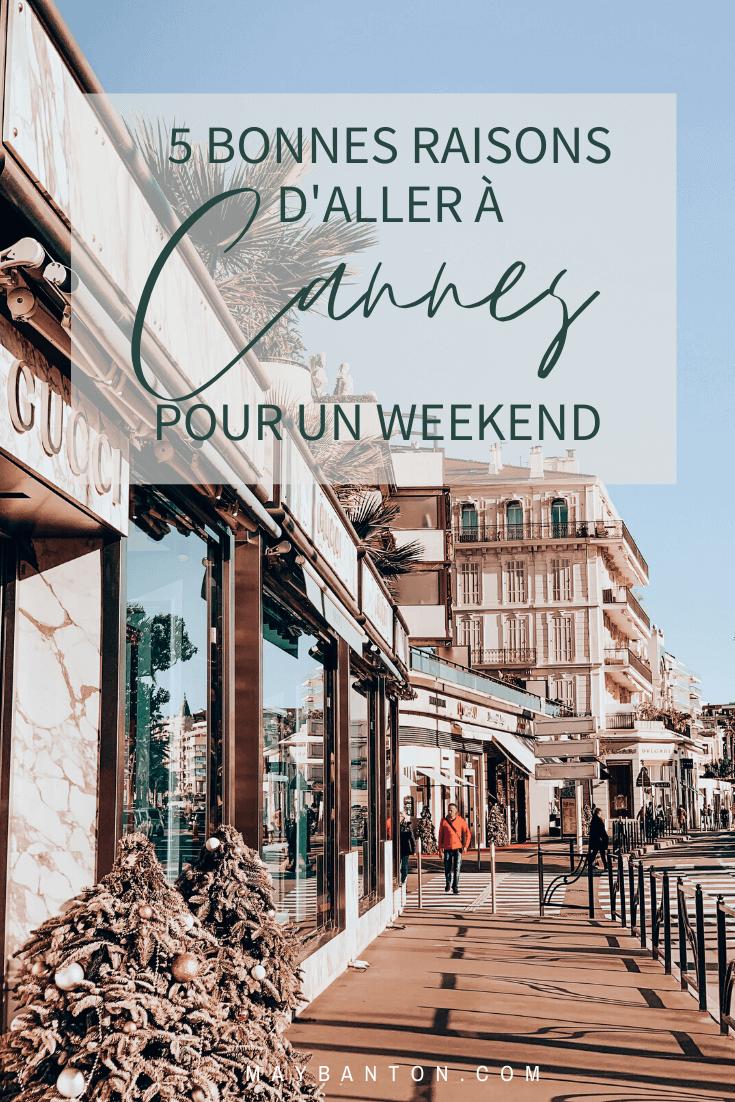 Avec ses boutiques de luxe, ses hôtels avec vue mer et ses plages privées, Cannes est un lieu de premier choix pour se détendre un weekend.