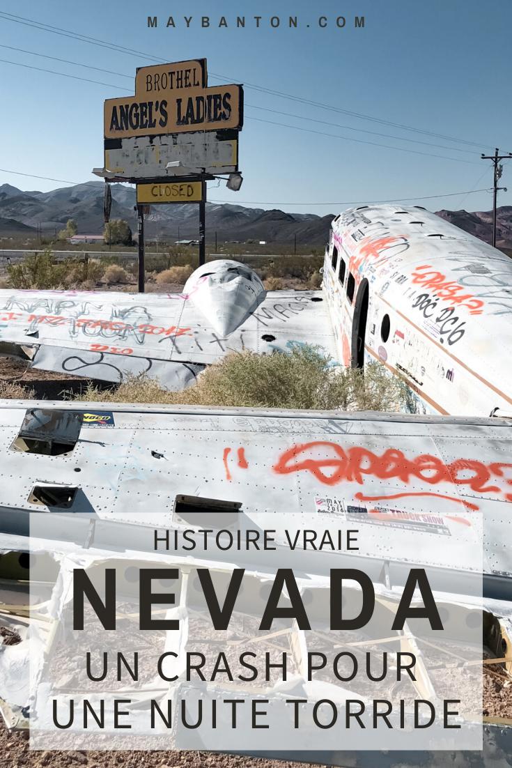 Connais-tu l'histoire du crash d'un Beechcraft C-45 sur une maison close dans le Nevada ? Non? un indice... c'était pour une nuit torride. Je te raconte toute l'histoire dans cet article.