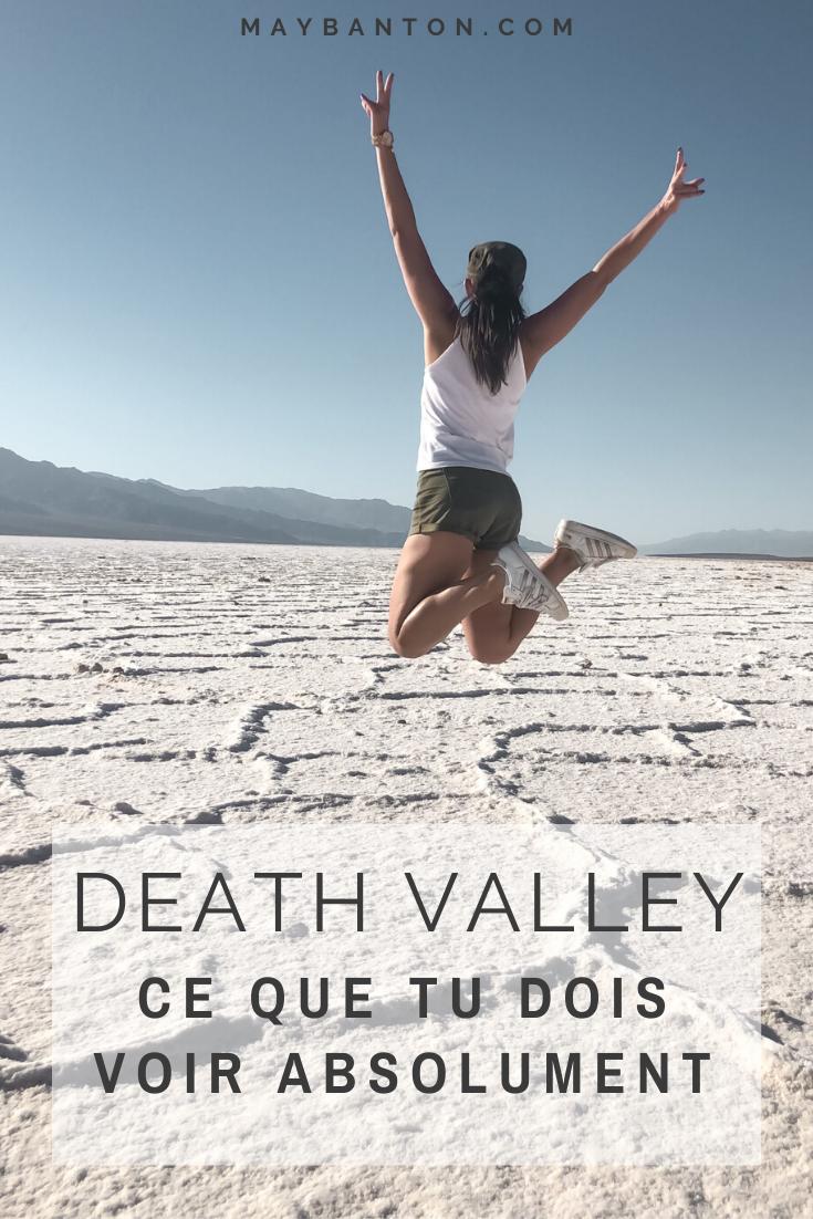 Death Valley est un parc national très étendu, dans ce petit guide je t'indique les meilleurs points à voir dans la vallée de la mort.