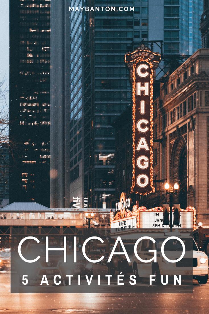 Chicago, comme beaucoup de grandes villes des Etats-Unis, offre énormément de chose à faire. Dans ce mini guide, je te propose 5 activités que j'ai adoré.