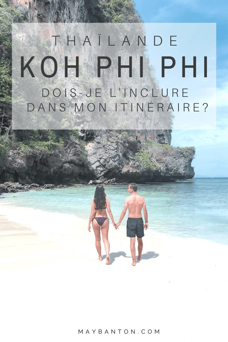 Koh Phi Phi est réputée pour ses plages paradisiaques mais depuis quelques années de nombreux touristes s'agglutinent sur les plages, est ce que ça vaut encore le coup d'aller à Koh Phi Phi ?