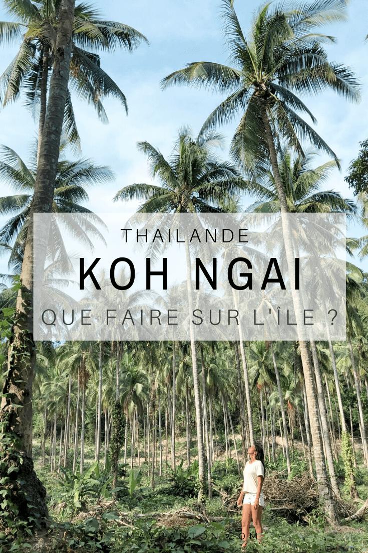 Parmi les paysages magnifiques de Thaïlande, l'île de Koh Ngai est la destination parfaite pour les amoureux de calme et de nature. Ce post t'aidera à savoir si tu dois l'inclure dans ton itinéraire de Thaïlande.