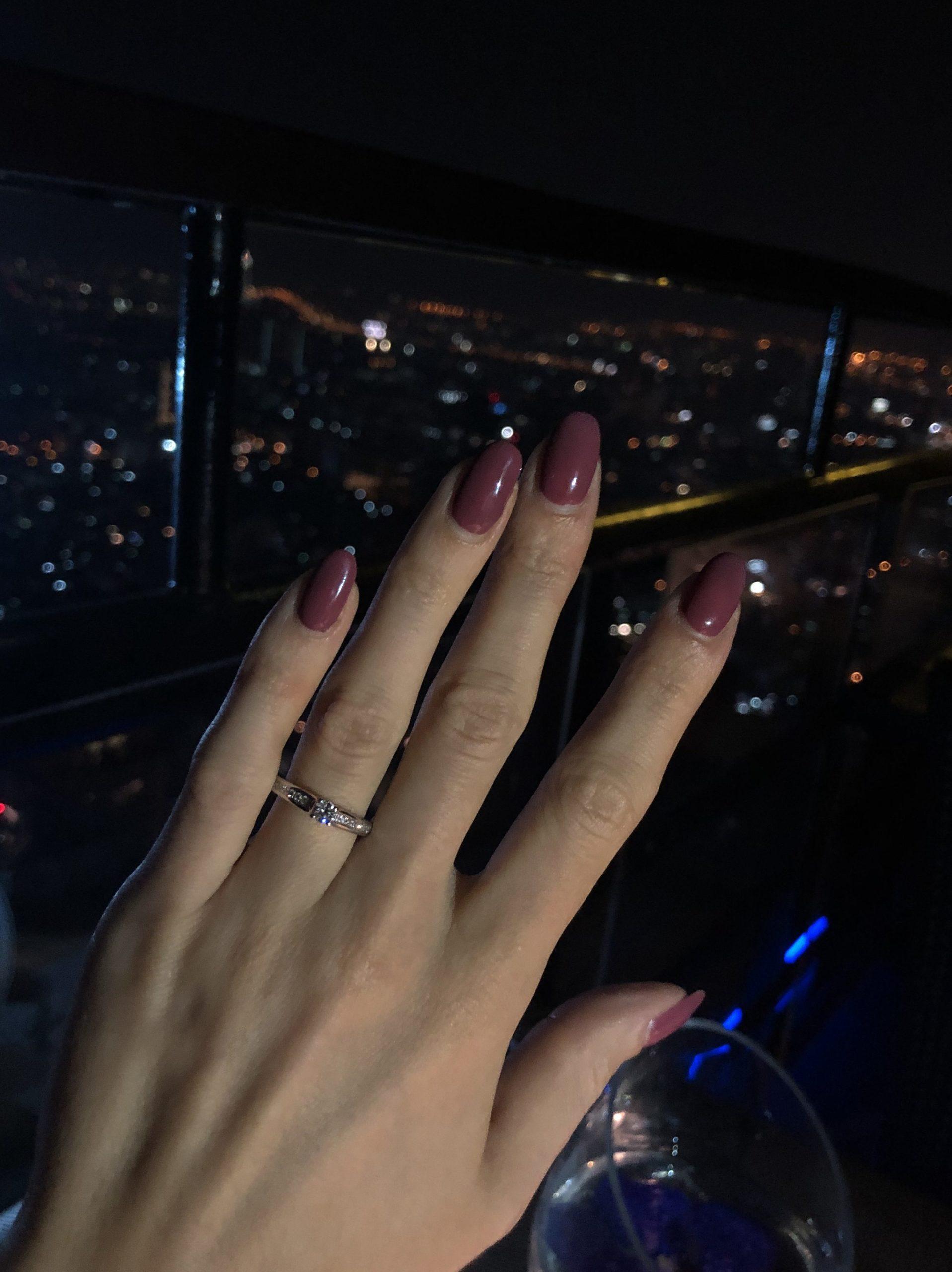 Demande en mariage au 61ème ciel.