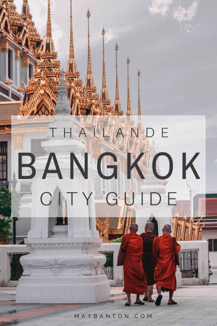 Bangkok est la ville la plus animée de Thaïlande et est un lieu de prédilection pour les amoureux de spiritualité. Tu peux faire la visite de temples bouddhiste comme l'incontournable Wat Arun ou encore visiter le Grand Palace ou les floating markets et khao san road. Pour t'aider à constituer ton itinéraire découvre mon City guide de Bangkok.