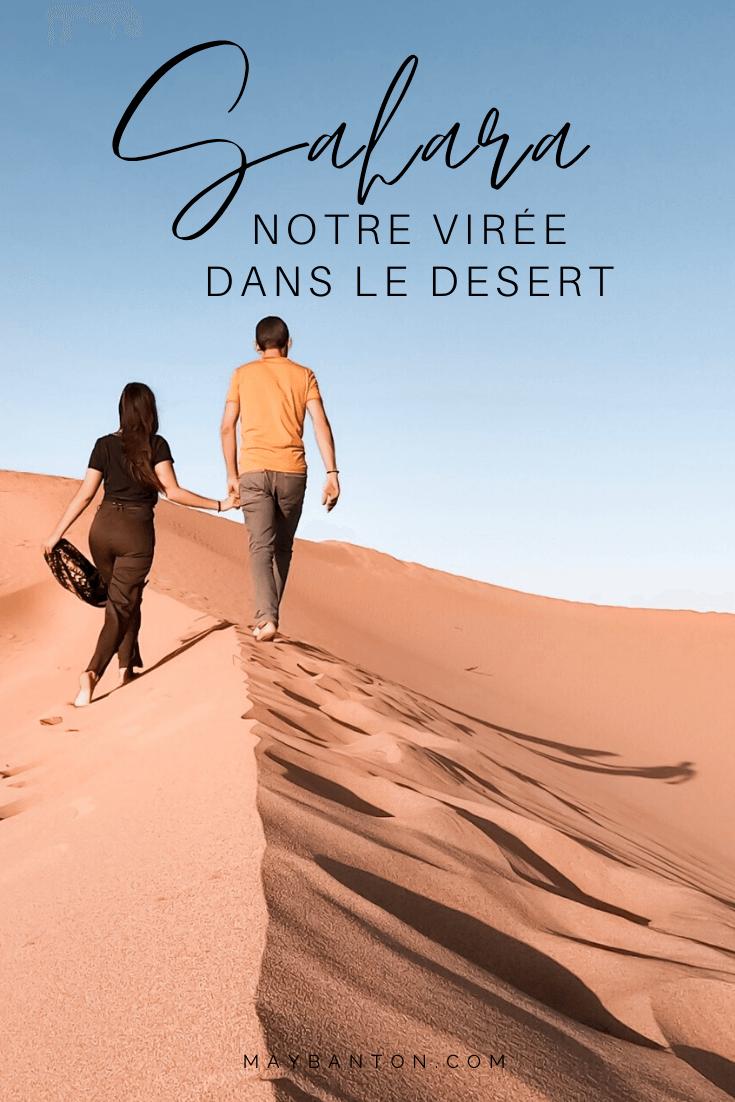Partis tôt de Marrakech, nous rejoignons le Désert du Sahara par les célèbres montagnes de l'Atlas... Dans ce carnet de voyage, je te raconte notre virée inoubliable au coeur des dunes de sable.
