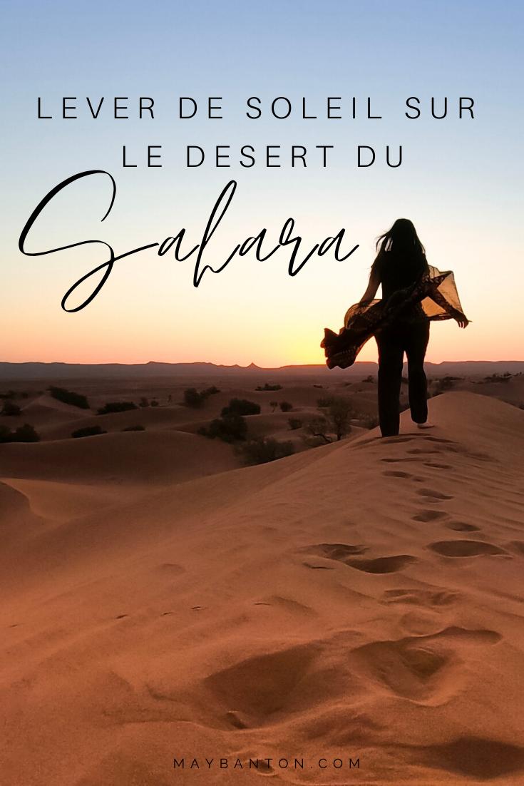 Assister à un lever de soleil sur les dunes du Sahara est une expérience inoubliable et que tu ne dois manquer sous aucun prétexte lors d'un voyage au Maroc.