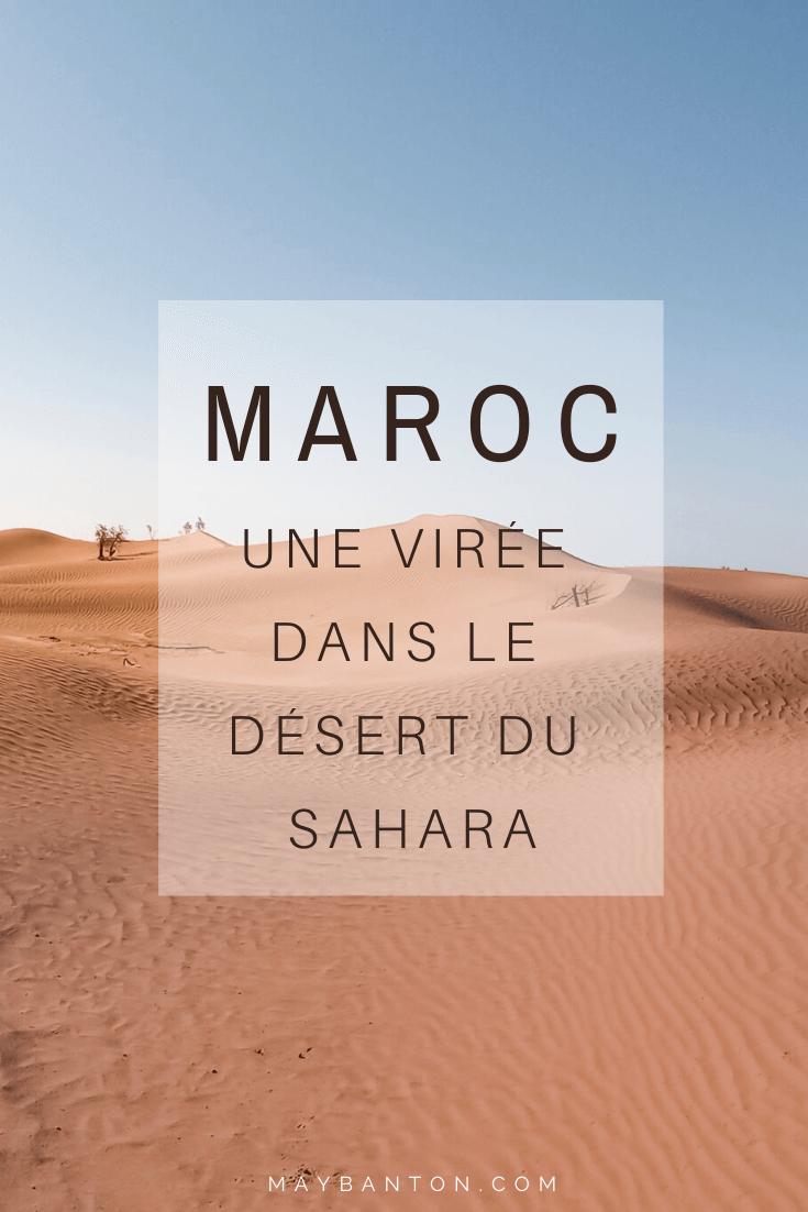 Le dessert du Sahara est une virée à ne surtout pas manquer lors d'un voyage au Marco... découvre notre expérience dans ce carnet de voyage.