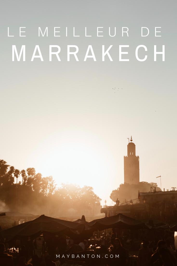 Les palais, les souks, les jardins, les riads... il y a temps à découvrir à Marrakech. Dans ce guide je te parle uniquement des meilleurs choses à voir ou à faire à Marrakech.