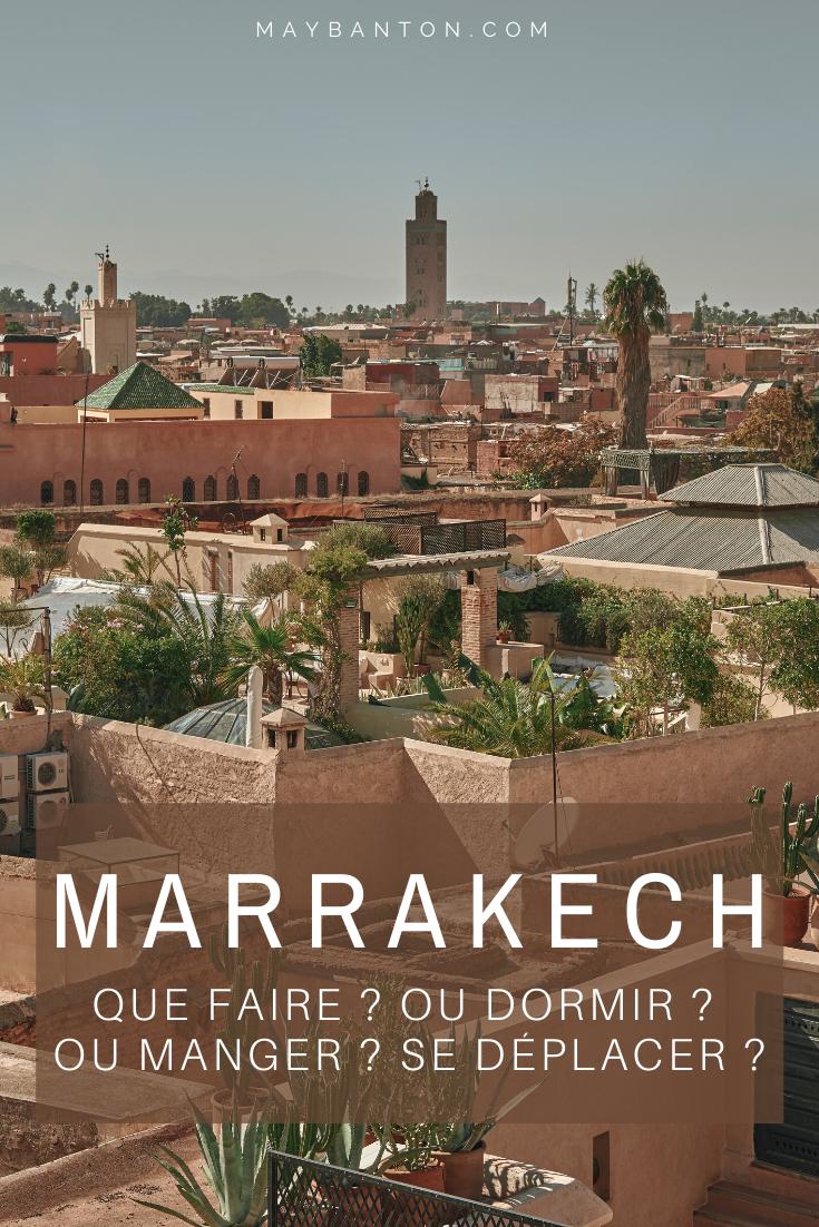Je t'aide à préparer ton voyage au Maroc avec ce guide de Marrakech. Tu trouveras des infos sur les meilleures choses à voir et à faire, les meilleures adresses pour dormir et manger ainsi que des conseils pratiques par exemple comment se déplacer.