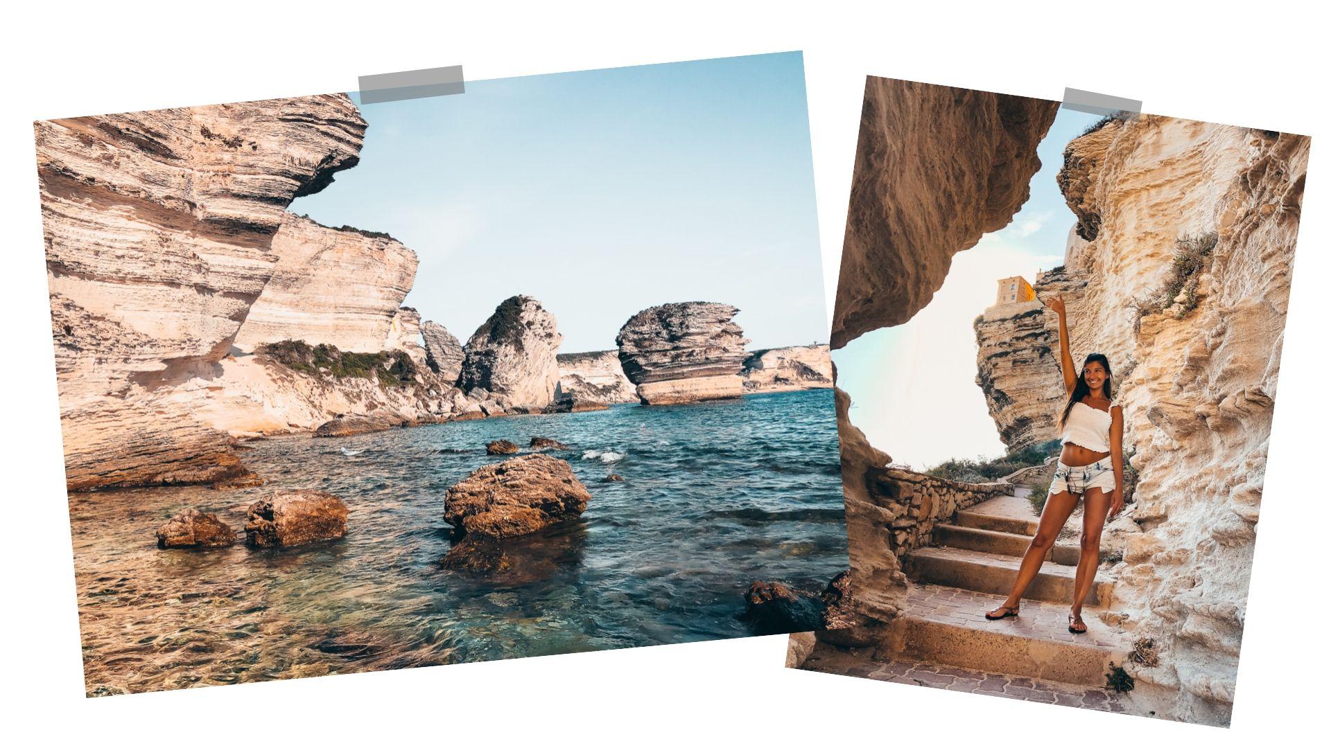 plage de Bonifacio, corse France