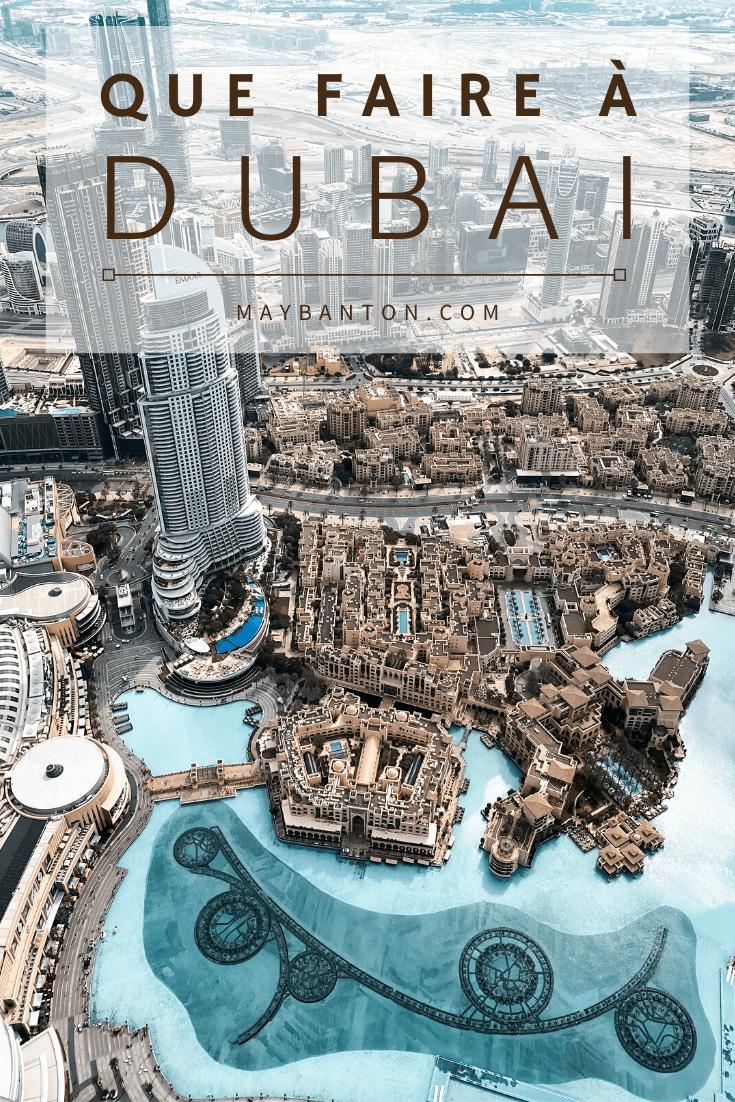 De la Burj Khalifa au désert en passant par global village, les plages ou encore le fabuleux quartier de la marina, dans cet article je te dis tout des meilleures activités à faire à Dubai.