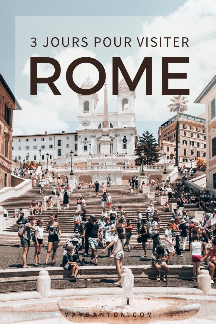 Le Colisée, les escaliers de la trinité, le panthéon, la fontaine de Trevi, le vatican... il y a tant de choses à découvrir à Rome, cet itinéraire est conçu pour que tu puisses voir l'essentiel de Rome en 3 jours.