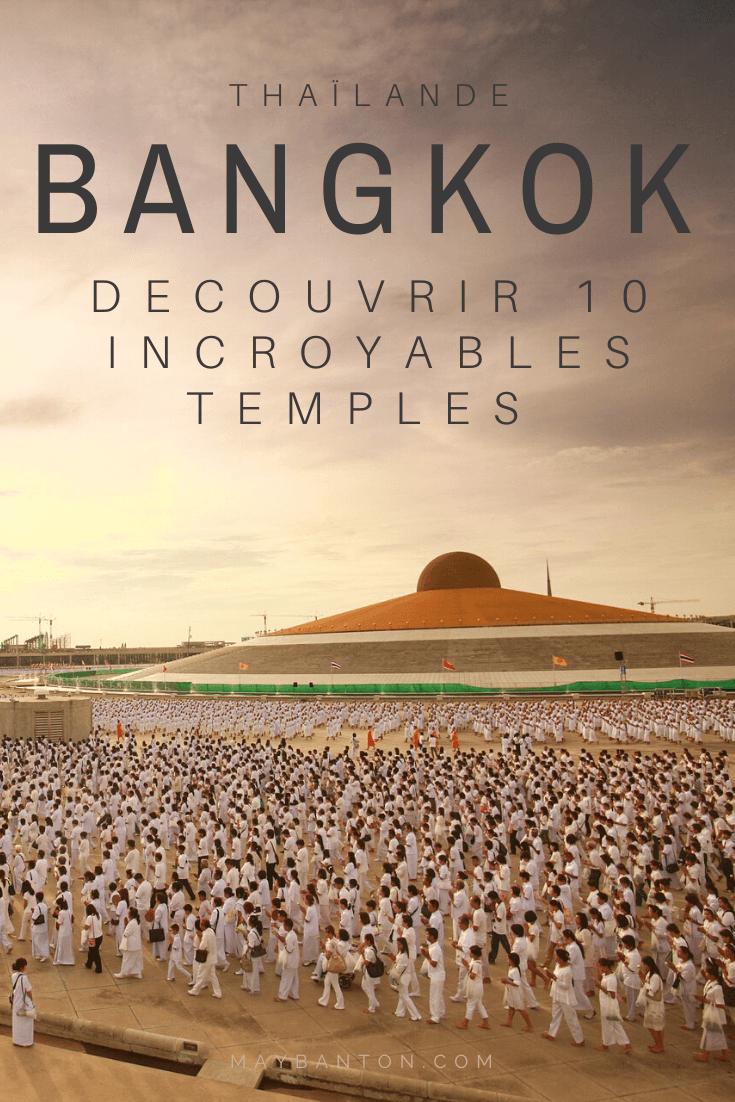 Bangkok abrite plus de 400 temples. Certains sont de véritables monuments historiques, d'autres sont des bâtiments un peu atypique. Dans cet article te parle de 10 incroyables temples bouddhistes à Bangkok