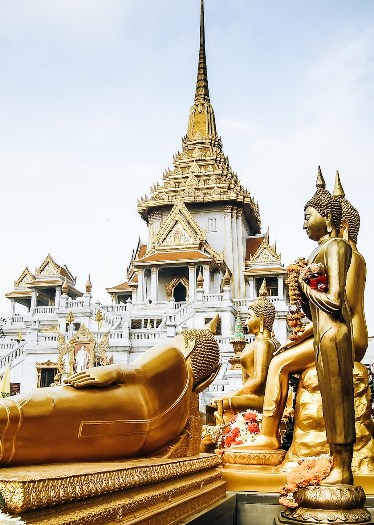 Wat traimit (temple du bouddha d'or) Bangkok Thaïlande