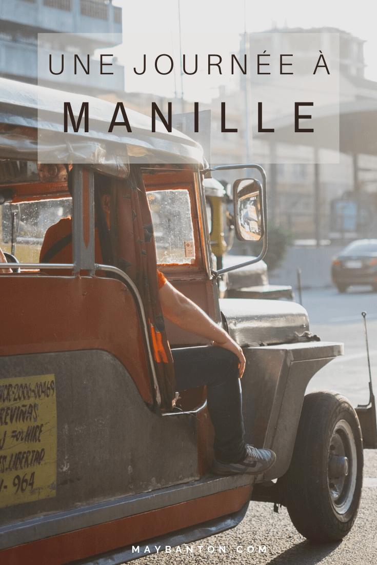 Manille est loin d'être une destination touristique, souvent les voyageurs ne font qu'une escale. Si tu as très peu de temps pour découvrir la capitale des Philippines je te propose un itinéraire qui va t'emmener au coeur de la ville et à la rencontre des locaux.
