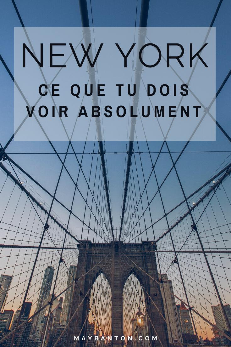 De Times Square à la statue de la liberté en passant par l'incontournable Empire State building, New York est une ville tentaculaire. Pour t'aider à planifier ton voyage voici selon moi ce que tu dois absolument voir à New York.