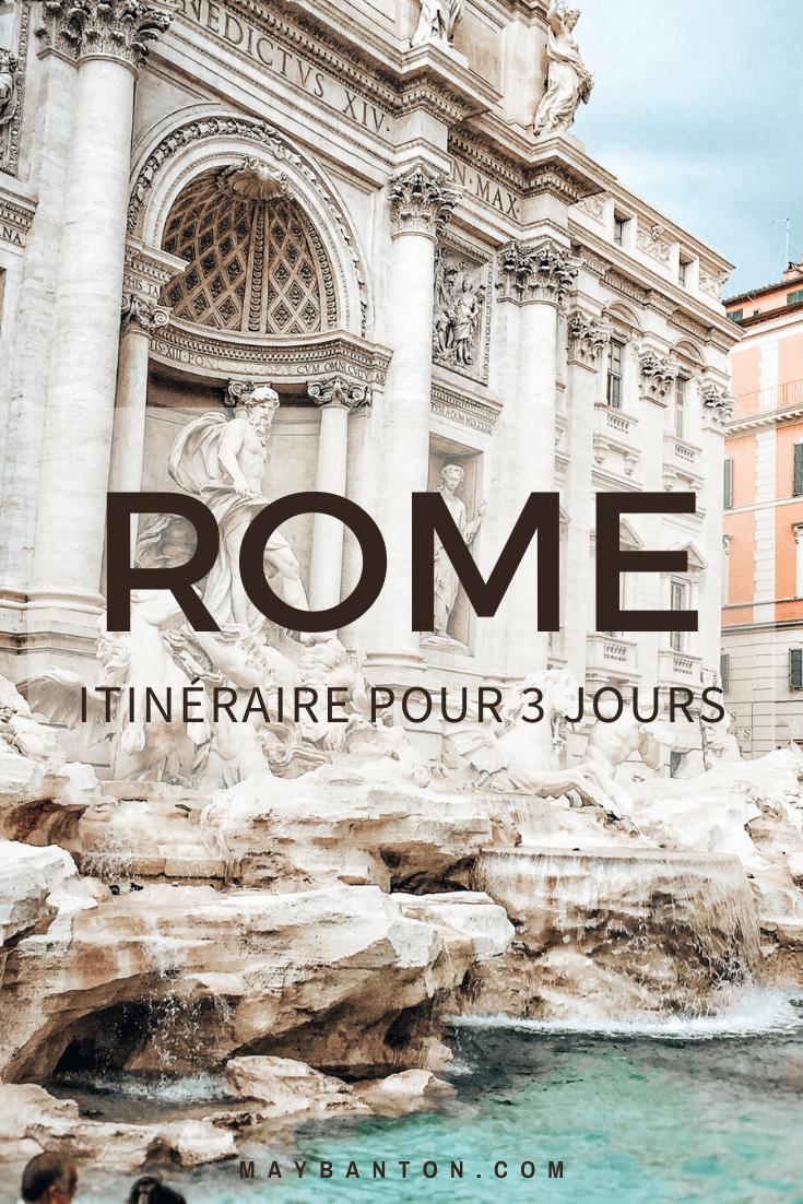 Cet itinéraire pour visiter Rome en trois jours va t'aider à préparer ton voyage dans la capitale Italienne.