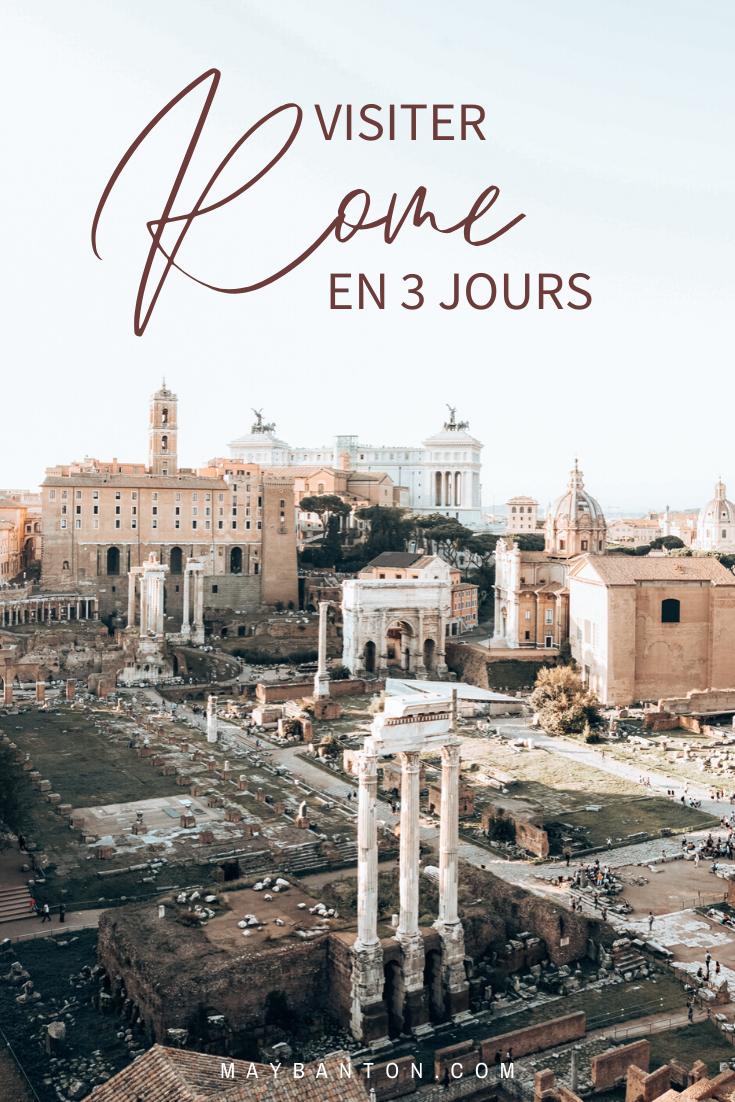 Pour t'aider à préparer ton voyage à Rome, je te propose cet itinéraire sur 3 jours. Tu y découvriras les monuments emblématiques comme le Colisée, la fontaine de Trevi ou encore le Vatican.