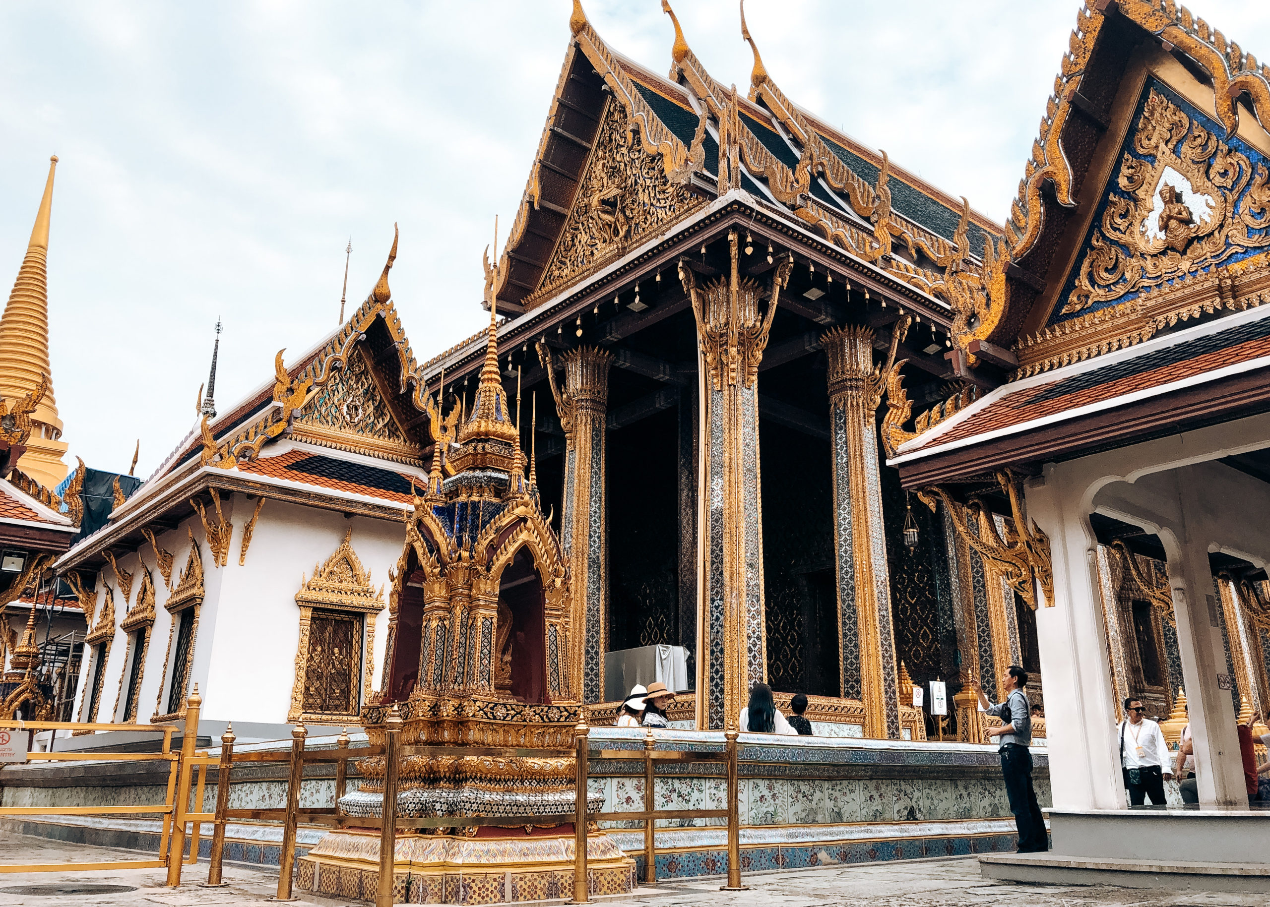 Wat Phra Kaew (temple du bouddha d'emeraude – Palais Royal) Bangkok Thailande