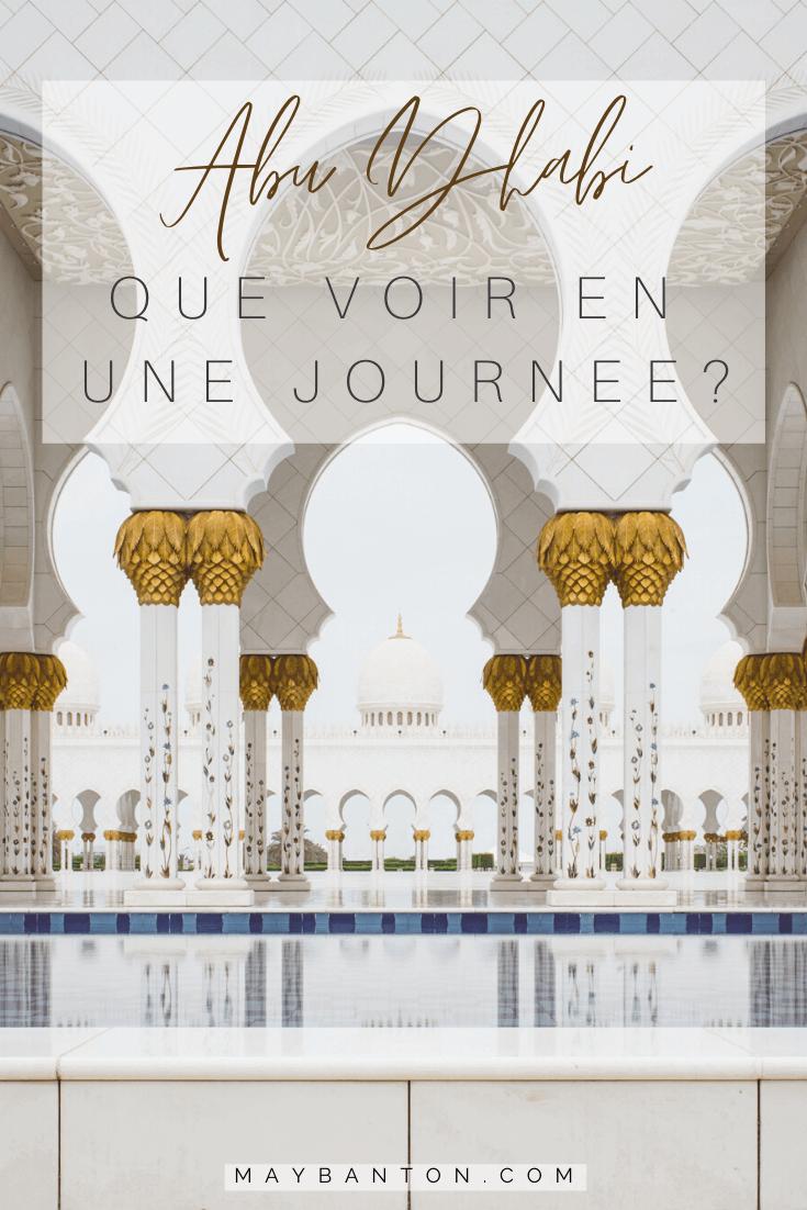 Abu Dhabi que voir en une journée ? Abu Dhabi: Que voir en une journée ? La mosquée cheikh zayed , le palais présidentiel ou encore l'Emirate Palace... Abu Dhabi regorge de visiter à faire. Afin que tu puisses planifier ta journée parfaite, voici 5 visites à faire absolument dans la capitale des Emirats Arabes Unis.