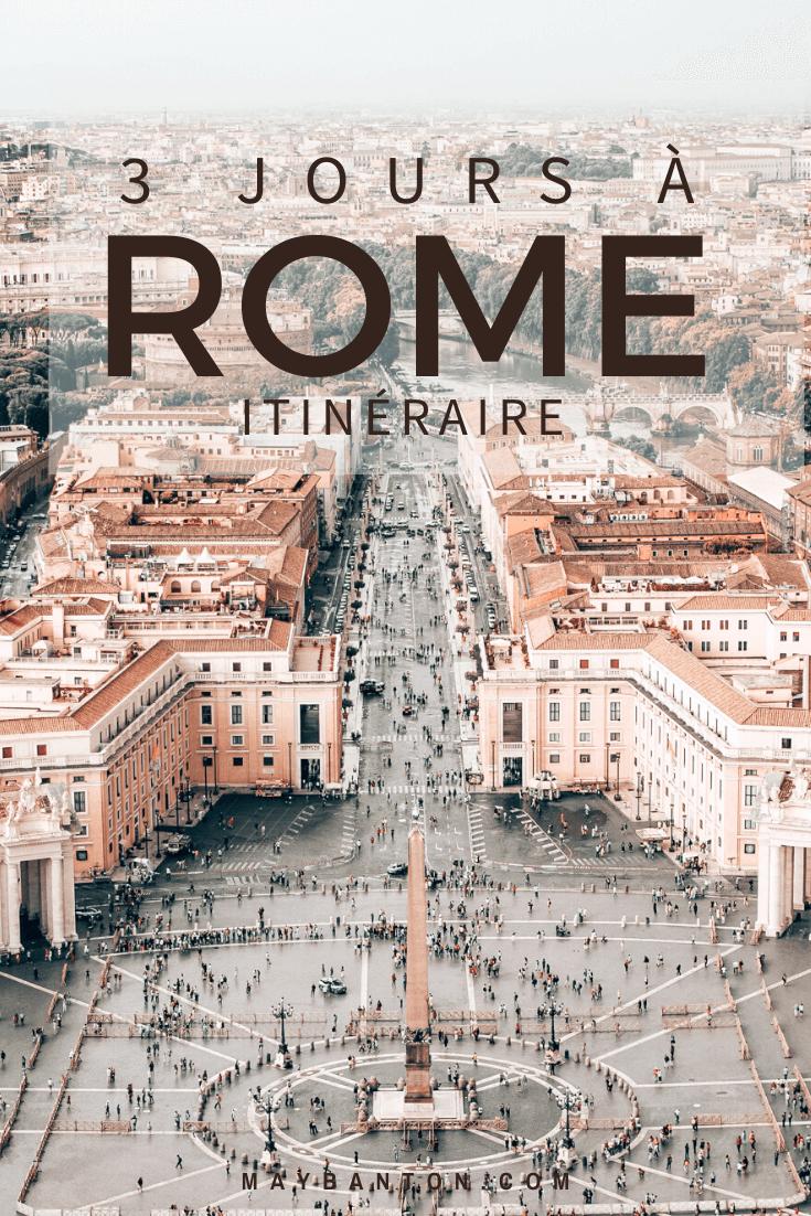 Dans ce guide de Rome, je te propose un itinéraire pour visiter la ville éternelle en 3 jours.