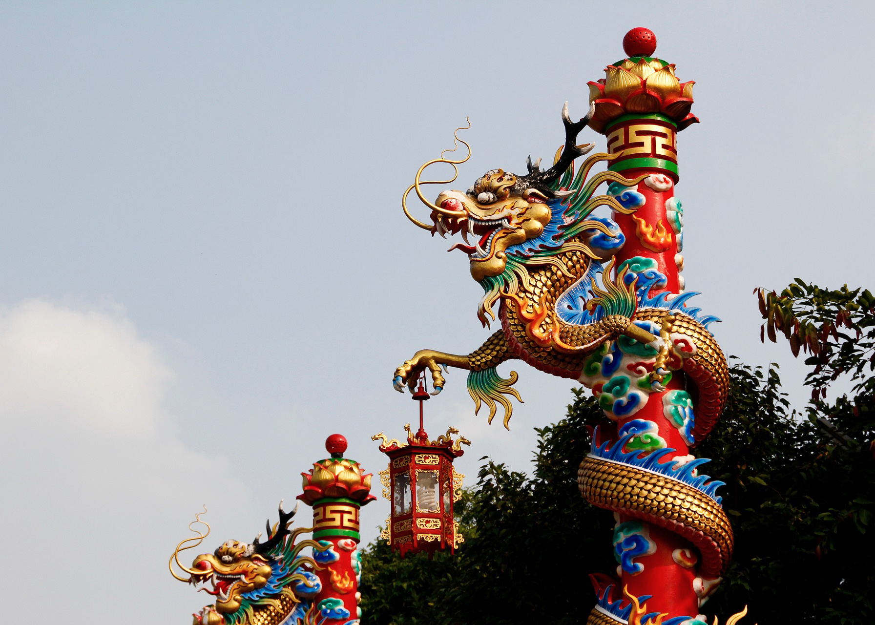 Wat Mangkon Kamalawat (Le temple chinois) Bangkok Thaïlande