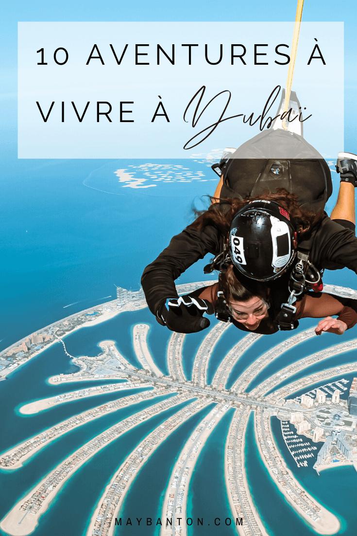 Dubaï est la destination parfaite si tu as envie de vivre des aventures insolites. Dans cet article, je te propose 10 activités à faire lors d'un voyage dans l'Emirat, comme un saut en parachutes ou un dîner sous l'eau.