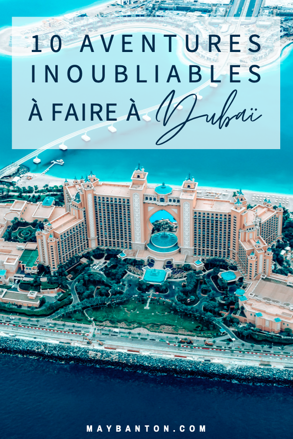 Dubaï est une destination pour les amoureux d'activités insolites. Dans ce post, je te propose de découvrir 10 aventures incroyables que tu ne peux faire qu'à Dubaï et que tu n'oublieras jamais.