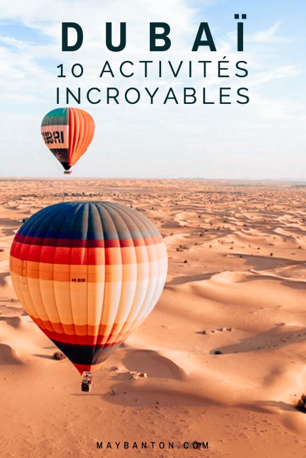 Dubaï est la destination rêvée pour les voyageurs en quête d'aventures insolites. Dans cet article, je te propose 10 choses à faire lors d'un voyage dans l'Emirat.