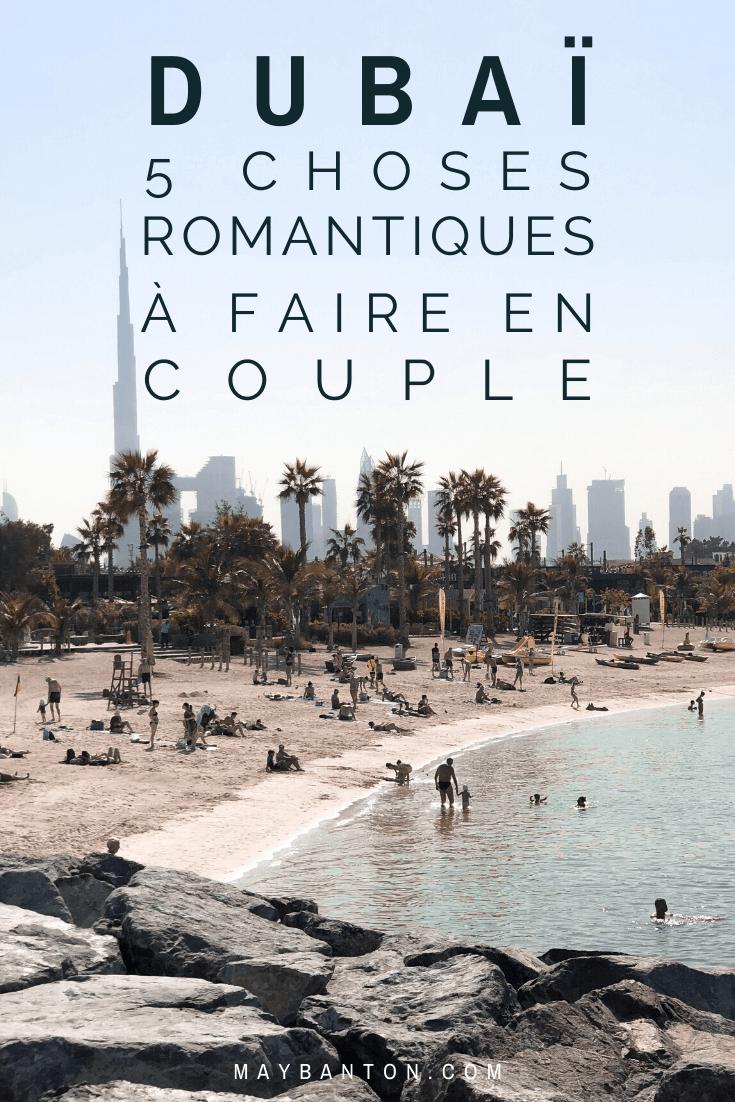 Dubaï dynamique et moderne est également un voyage de rêve à faire en couple, entre coucher de soleil sur les plages et spa de luxe... tu trouveras de quoi vivre une aventure en couple hors du commun.